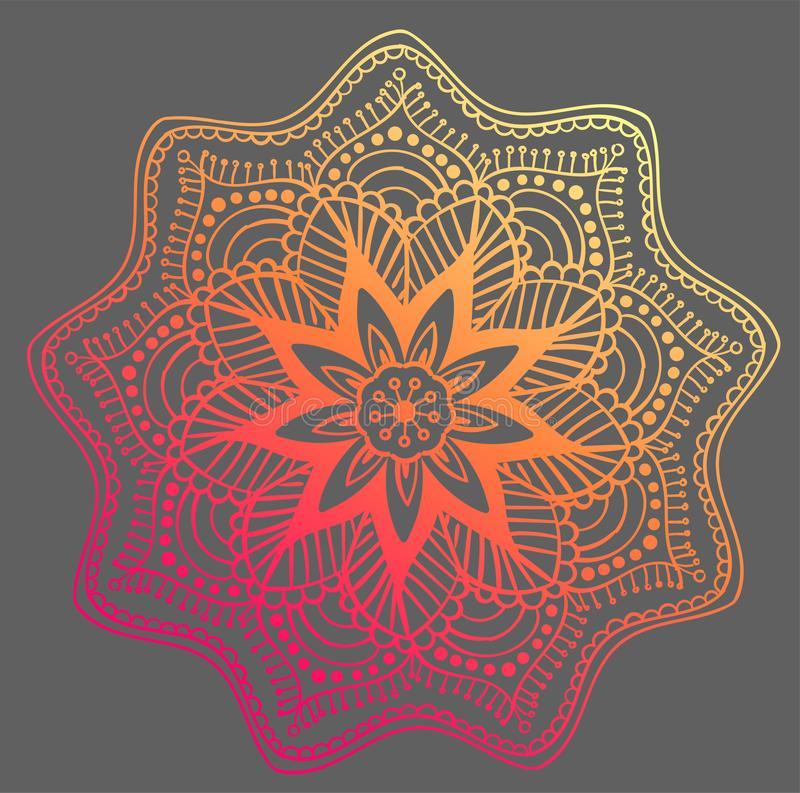Mandala Vector Design Element Runde Verzierungsdekoration Blumen-Muster [02] Stilisiertes Blumenmotiv kompliziert lizenzfreie abbildung