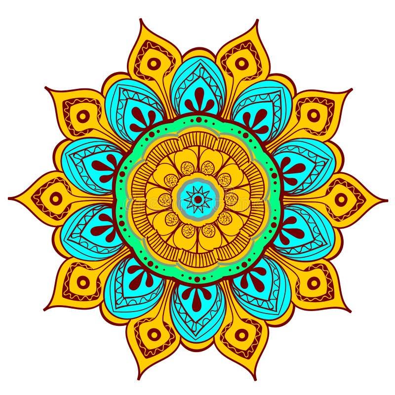 Mandala Vector Design Element Runde Verzierungsdekoration Blumen-Muster [02] Stilisiertes Blumenmotiv kompliziert stock abbildung