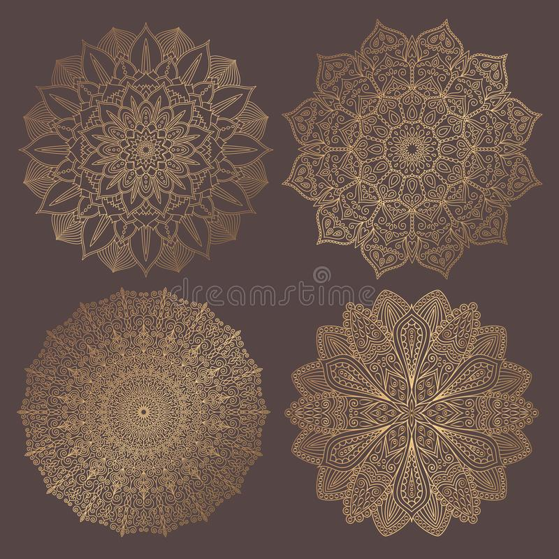 Mandala Vector Design Elements Collection stock abbildung