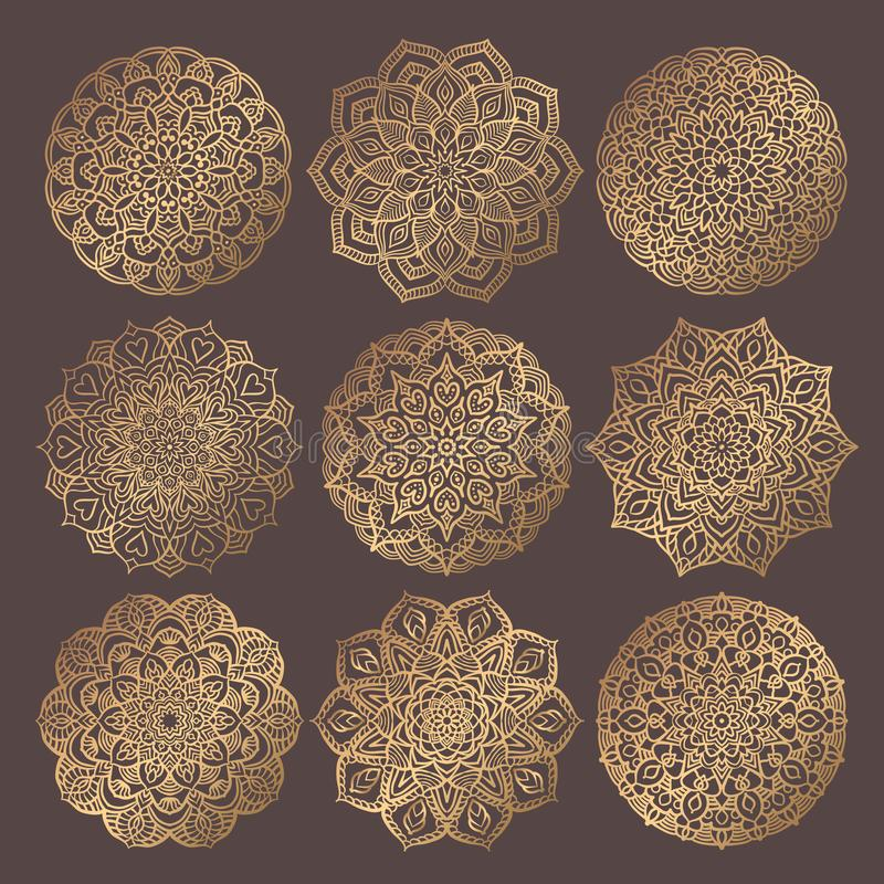 Mandala Vector Design Elements Collection lizenzfreie abbildung