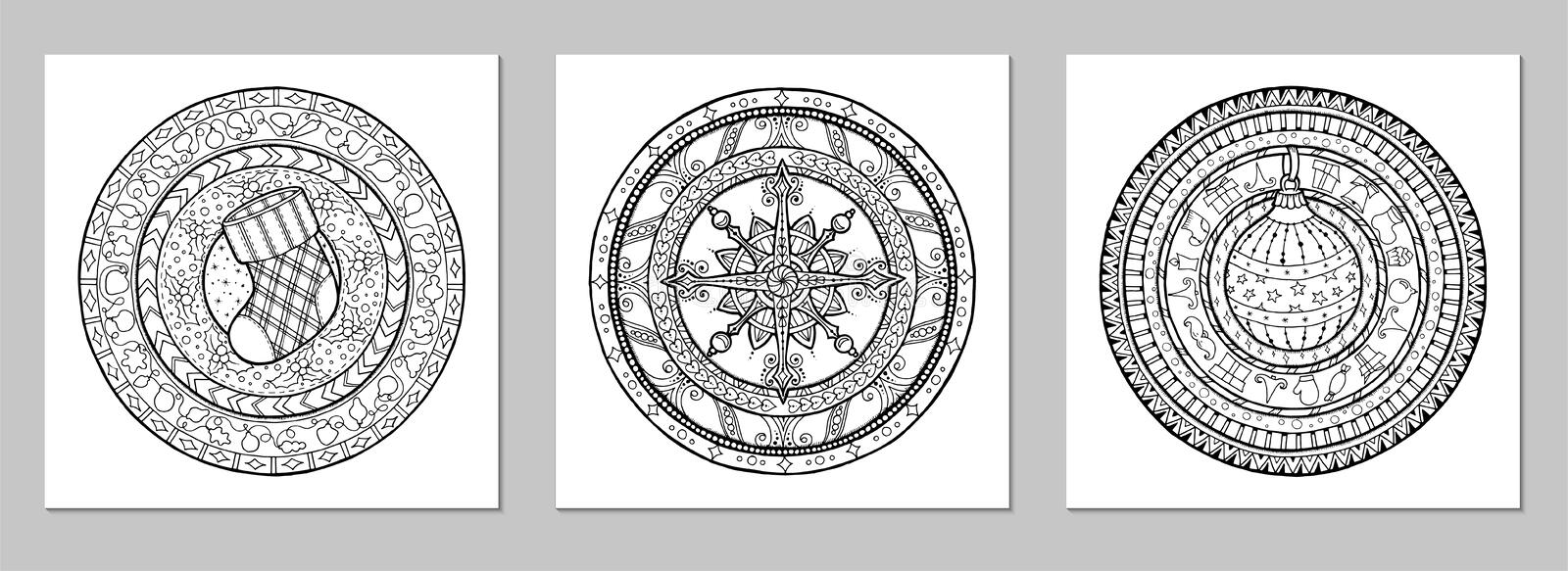 Mandala Vector doodle tattoo. Perfect element for any kind of design, birthday and other holiday, kaleidoscope, medallion, stock image