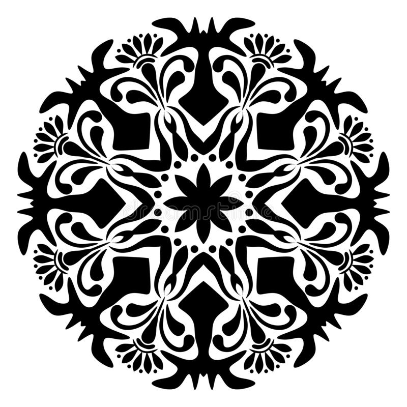 Mandala Vector Illustration blanco y negro libre illustration