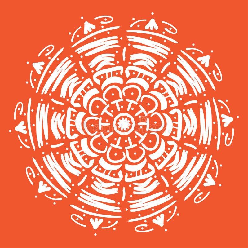 Mandala vector illustration. Round abstract floral oriental pattern, vintage decorative elements stock illustration