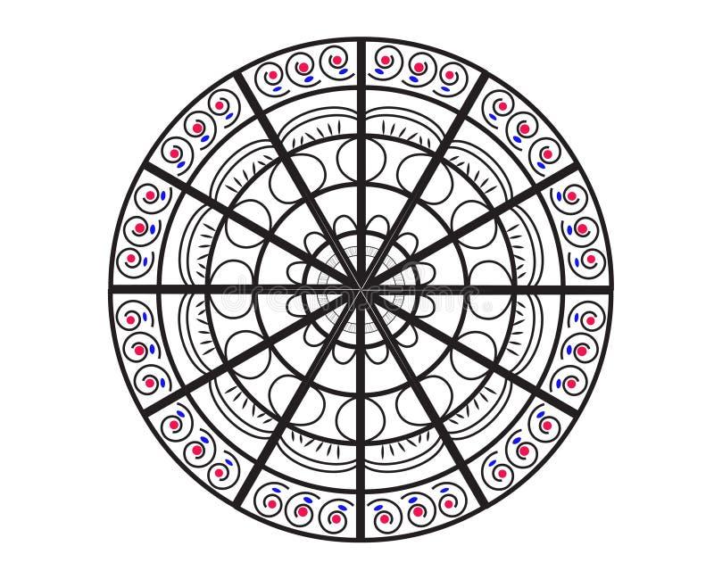 Mandala vector illustration. Round floral ornamental design pattern. stock image