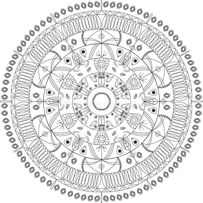 Mandala vector illustration. Round ornamental pattern. stock image