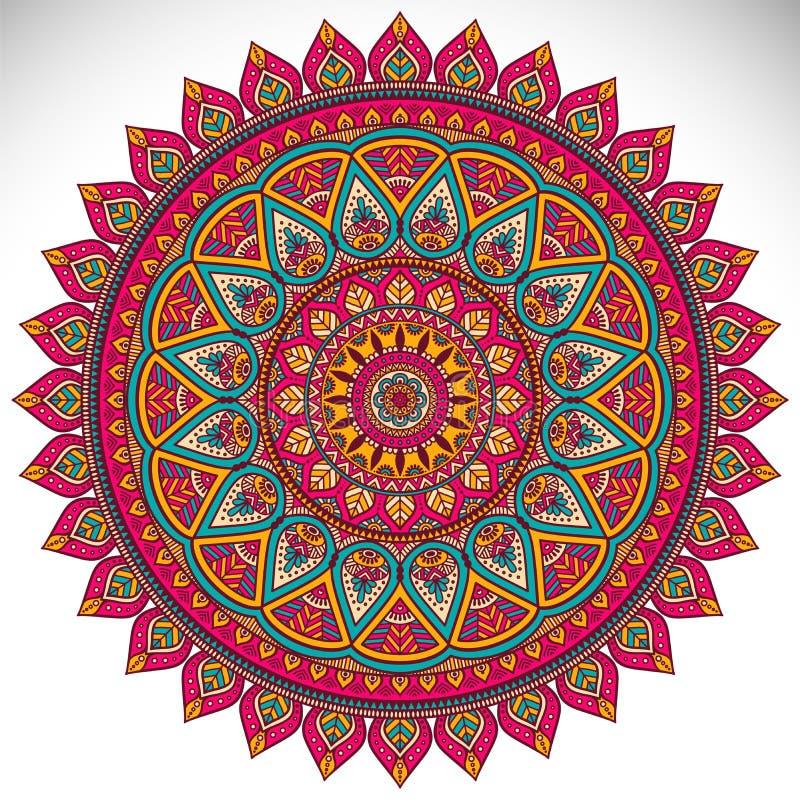 Mandala. Vector Mandala. Round ornament in ethnic style. Hand draw