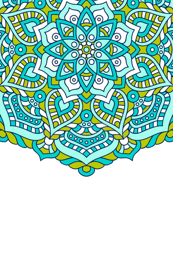 Mandala vectorachtergrond royalty-vrije illustratie