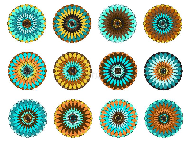 Mandala, vectorbeelden editable EPS AI vector clipart royalty-vrije illustratie