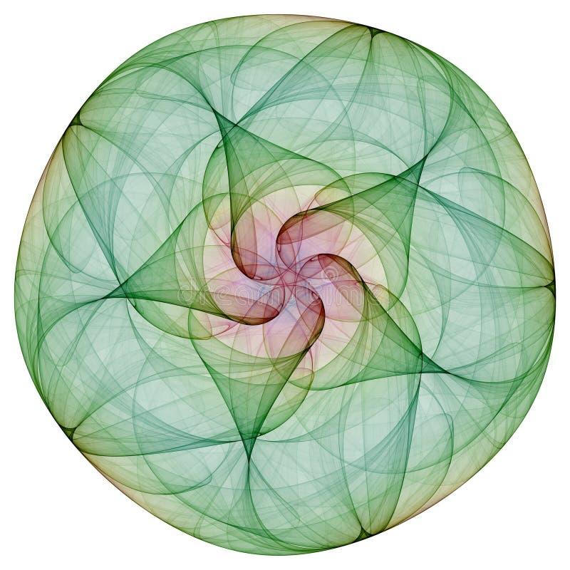 Mandala verde ilustração do vetor