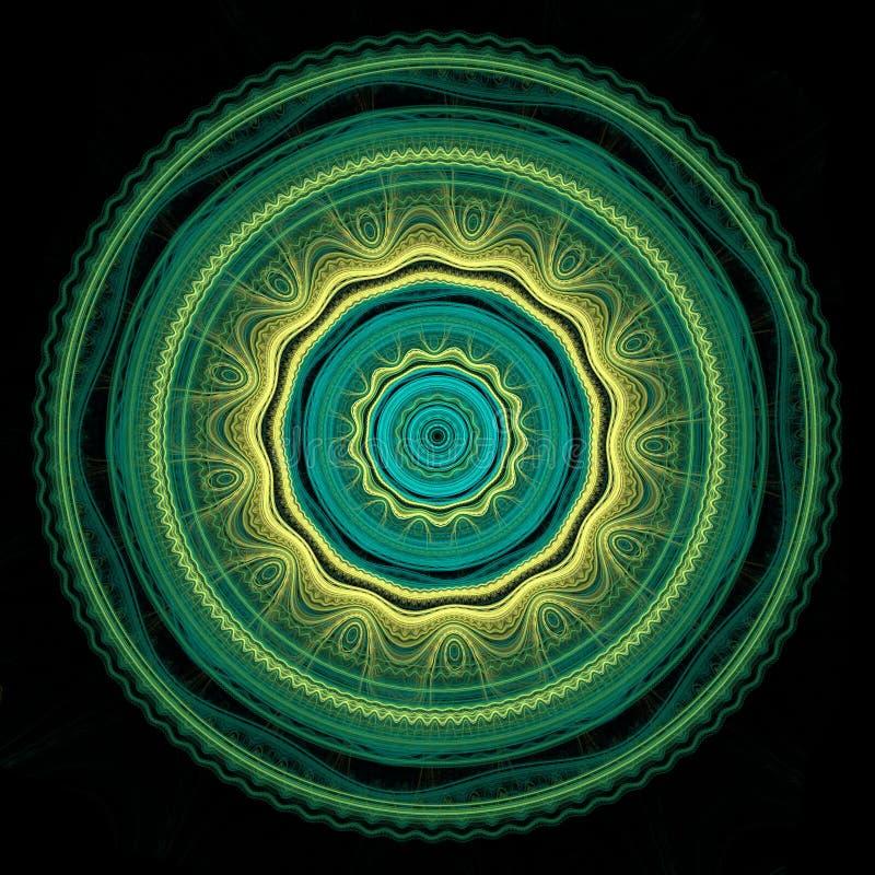 Mandala verde e gialla fotografia stock libera da diritti