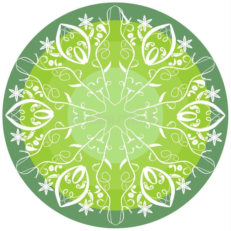 Mandala verde para a vitalidade ilustração royalty free