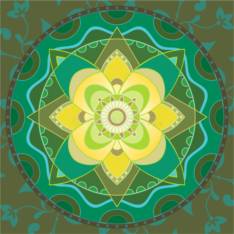 Mandala vert illustration stock