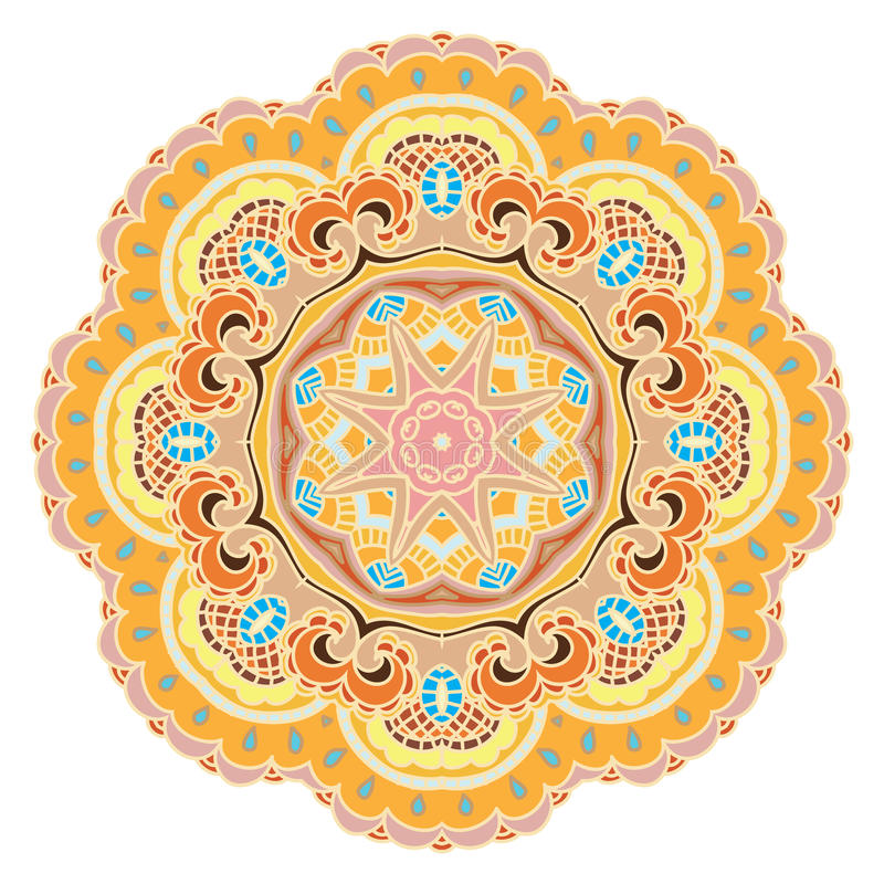 Download Mandala stock vector. Image of beauty, gold, fabric, festive - 32386819