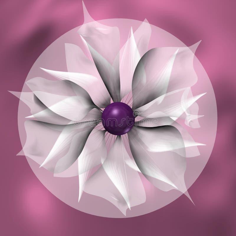 Mandala violeta con la flor libre illustration