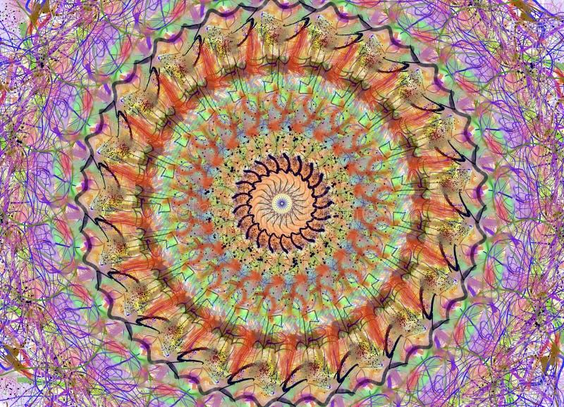 Mandala w wiele colours ilustracji
