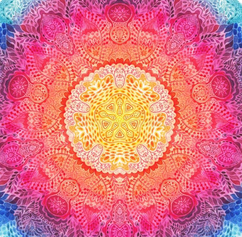 Mandala Watercolor Ντεκόρ για το σχέδιό σας στοκ φωτογραφία με δικαίωμα ελεύθερης χρήσης