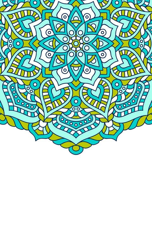 Mandala wektoru tło royalty ilustracja
