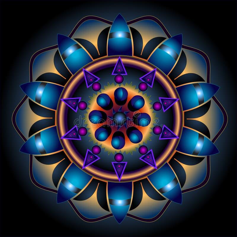 Mandala Wheel of Destiny vector illustration