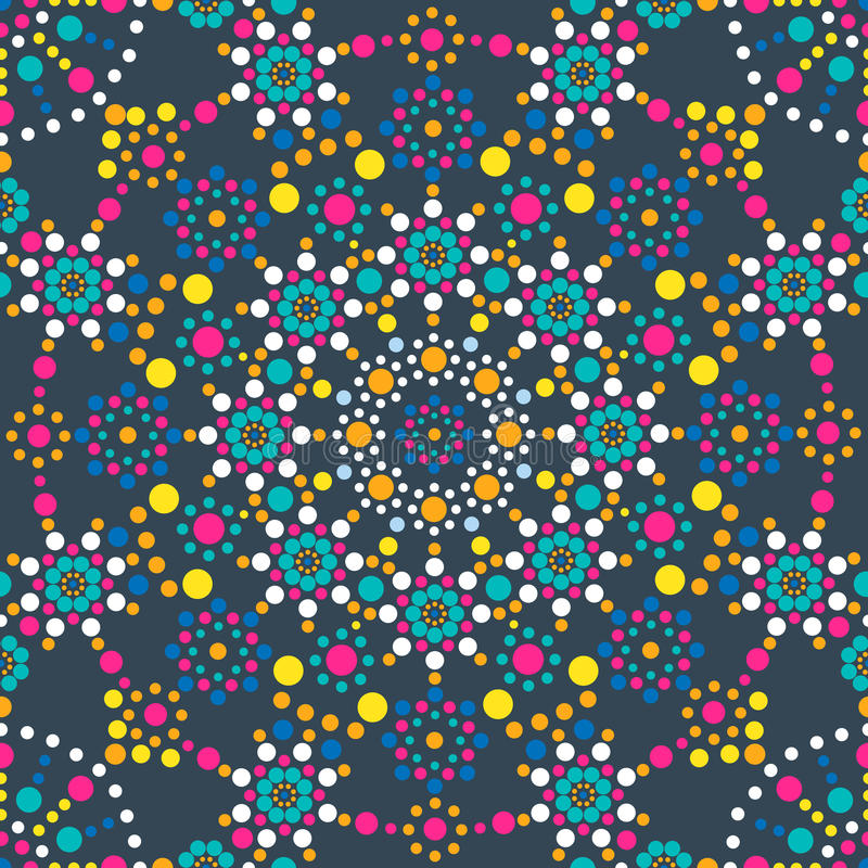 Mandala wzór royalty ilustracja