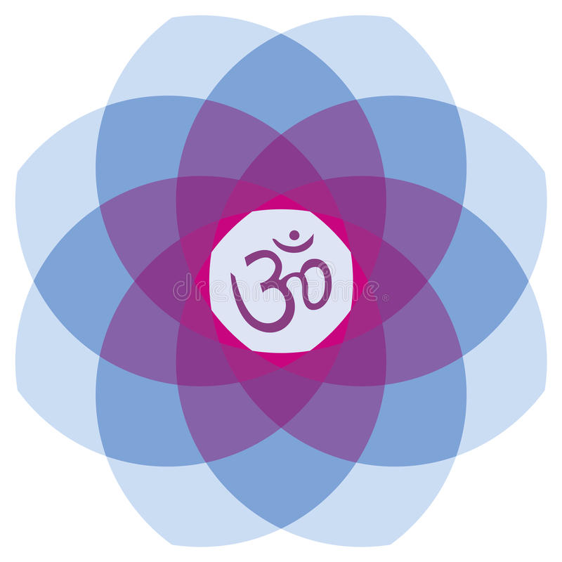 Mandala z ` Aum ` obrazy royalty free