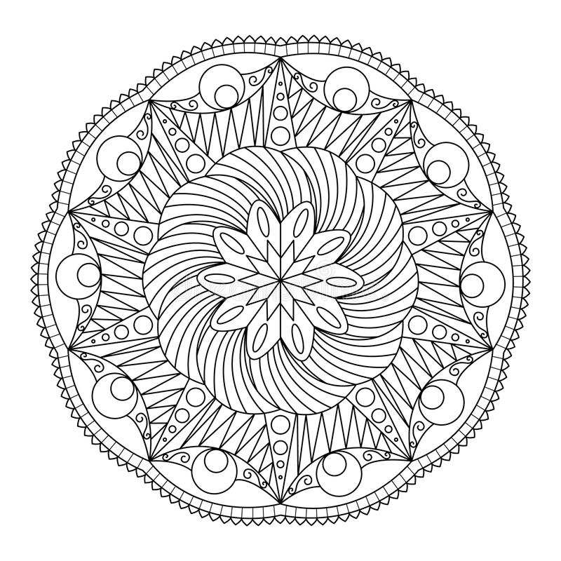 Mandala zen krabbel royalty-vrije illustratie