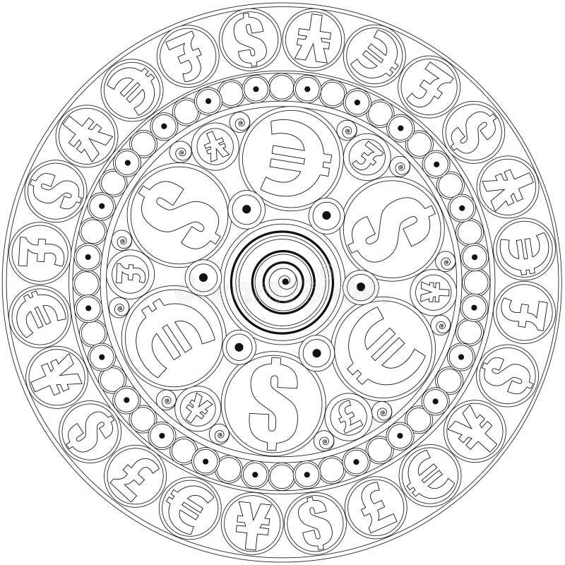 Mandala, Zum Des Geldes Anzuziehen Zu Färben Mandala Farbtonseite ...