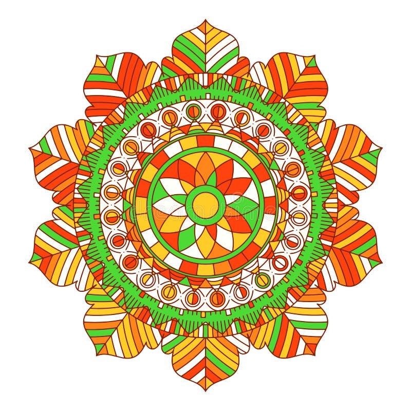Mandalaachtergrond stock illustratie