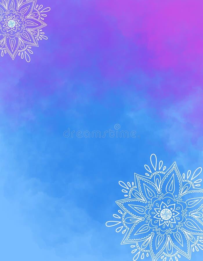 Mandalaachtergrond Illustratie met rond ornament, decoratief Indisch medaillon, abstract bloemelement stock illustratie