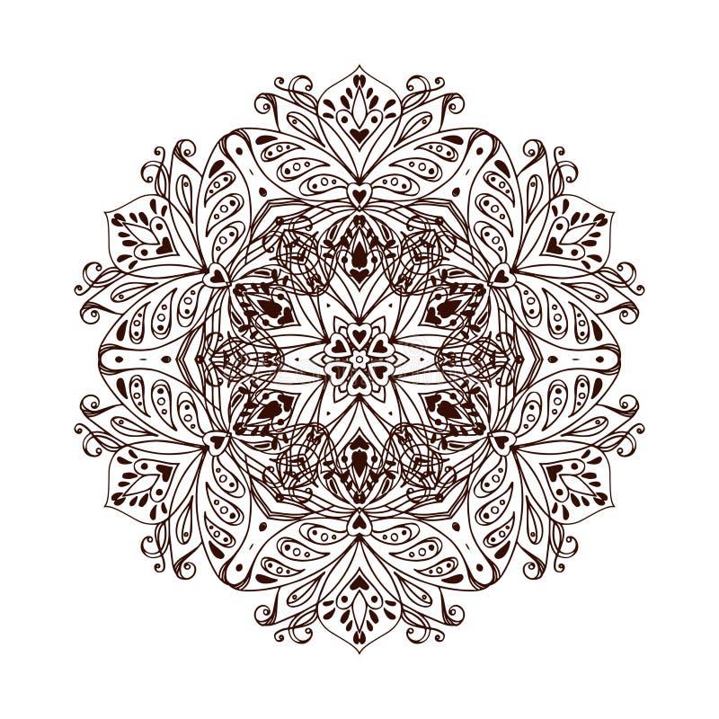 Mandalabanner, Indische stijl royalty-vrije illustratie