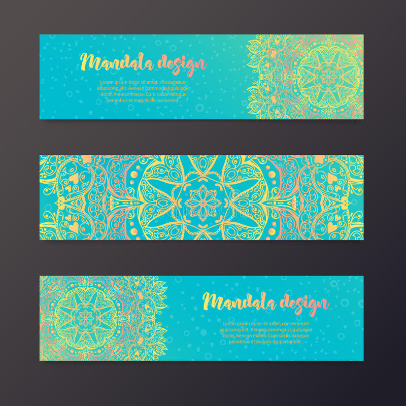 Mandalabanner, Indische stijl vector illustratie