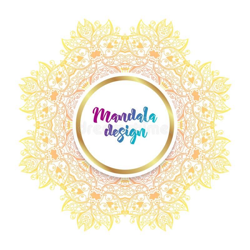 Mandalabanner, Indische stijl stock illustratie