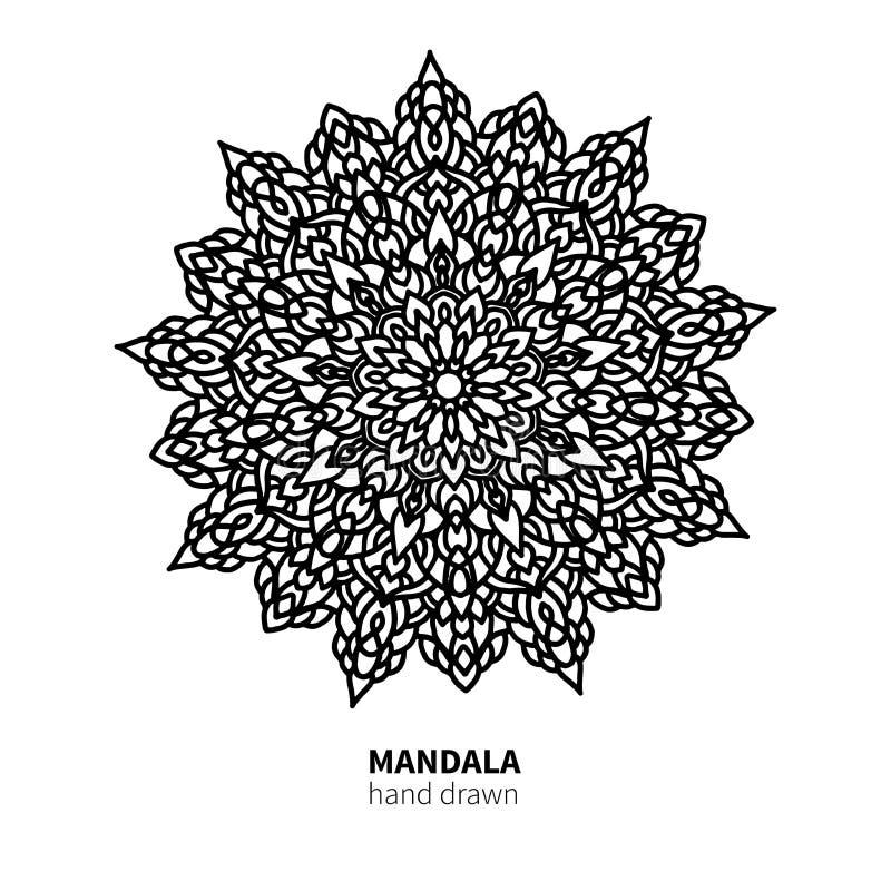 Download Mandalablumen-Vektorzeichnung Dekoratives Boho Runde Verzierung Vektor Abbildung - Illustration von abbildung, buch: 106803221