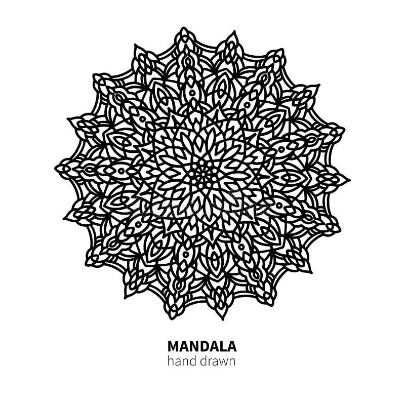 Download Mandalablumen-Vektorzeichnung Dekoratives Boho Runde Verzierung Vektor Abbildung - Illustration von abstraktion, islam: 106803289