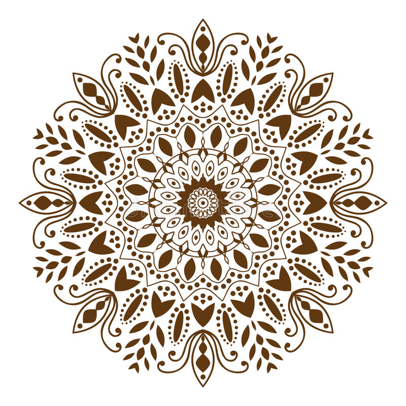 Mandaladekorative ethnische Kreisverzierung vektor abbildung