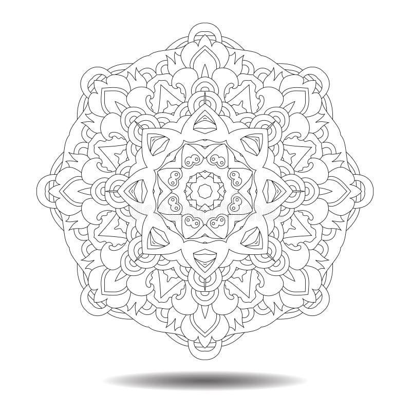 Mandaladesignbeståndsdel vektor illustrationer