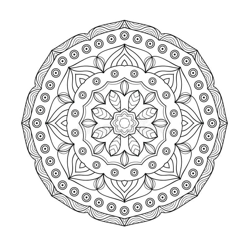Mandalafärgläggningbok för vuxna människor vektor illustrationer