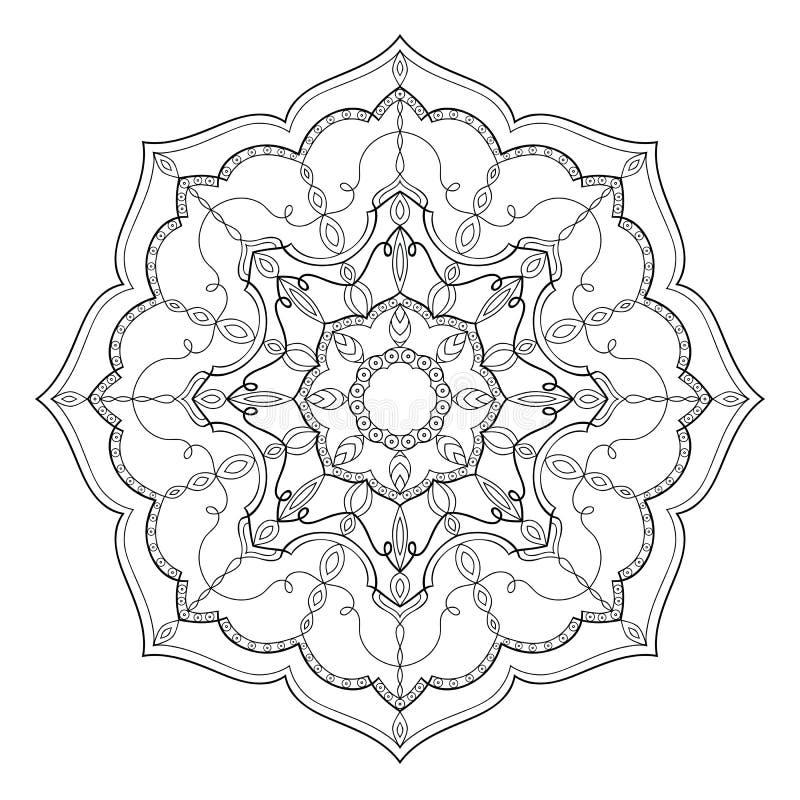 Mandalafärgläggningbok för vuxna människor royaltyfri illustrationer