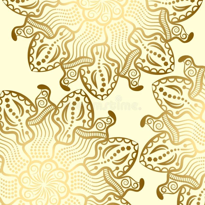 Mandalagoldhintergrund lizenzfreie abbildung