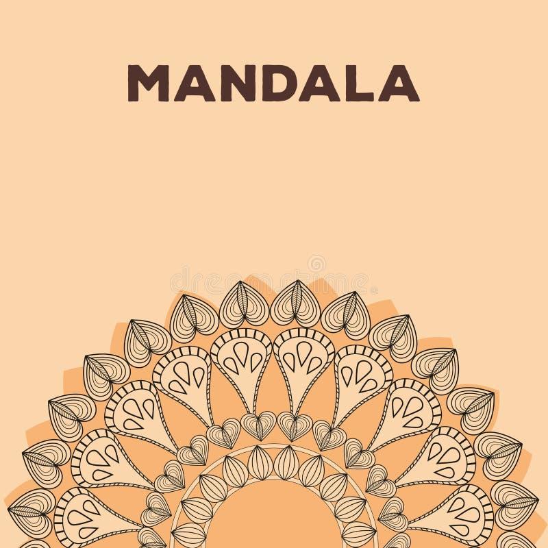 Mandalaindieremblem royaltyfri illustrationer