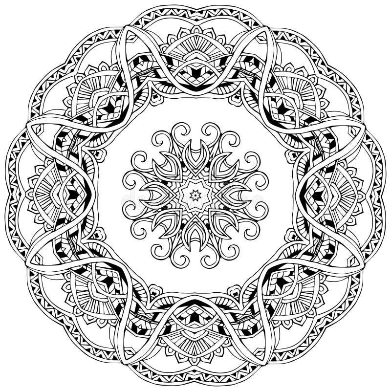 Mandalakaart royalty-vrije illustratie