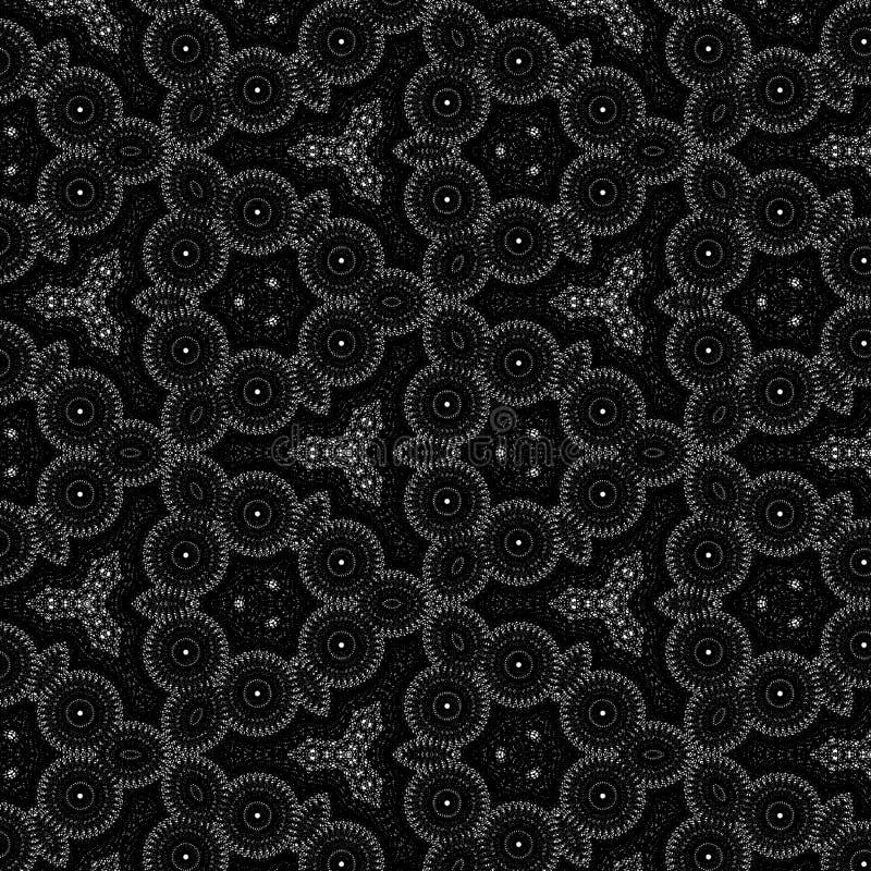 Mandalakaleidoskopschwarzweiss-Muster-Hintergrund expolosion lizenzfreies stockbild
