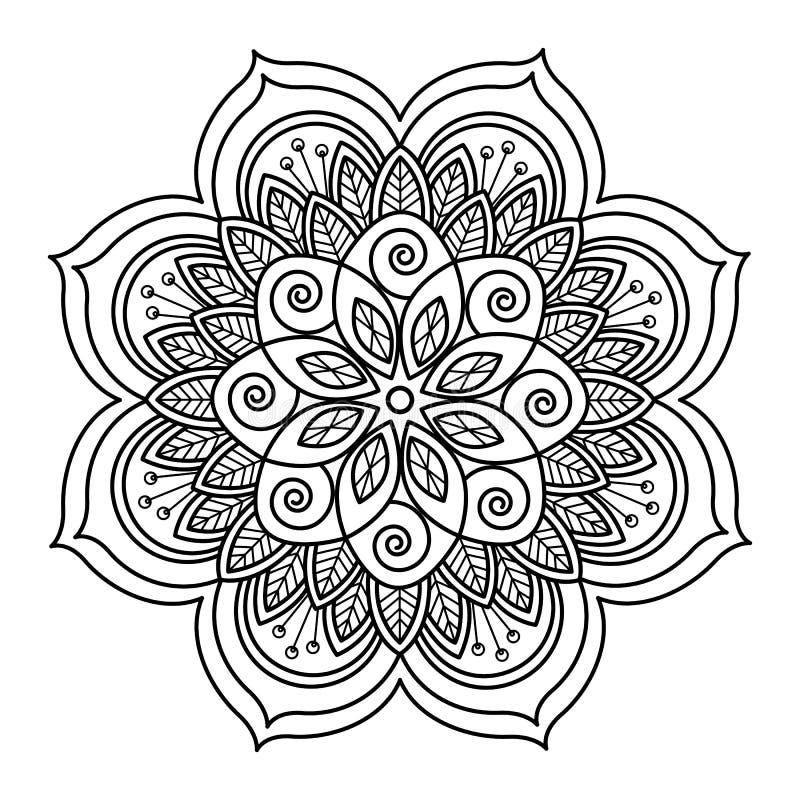 Mandalaklotter stock illustrationer