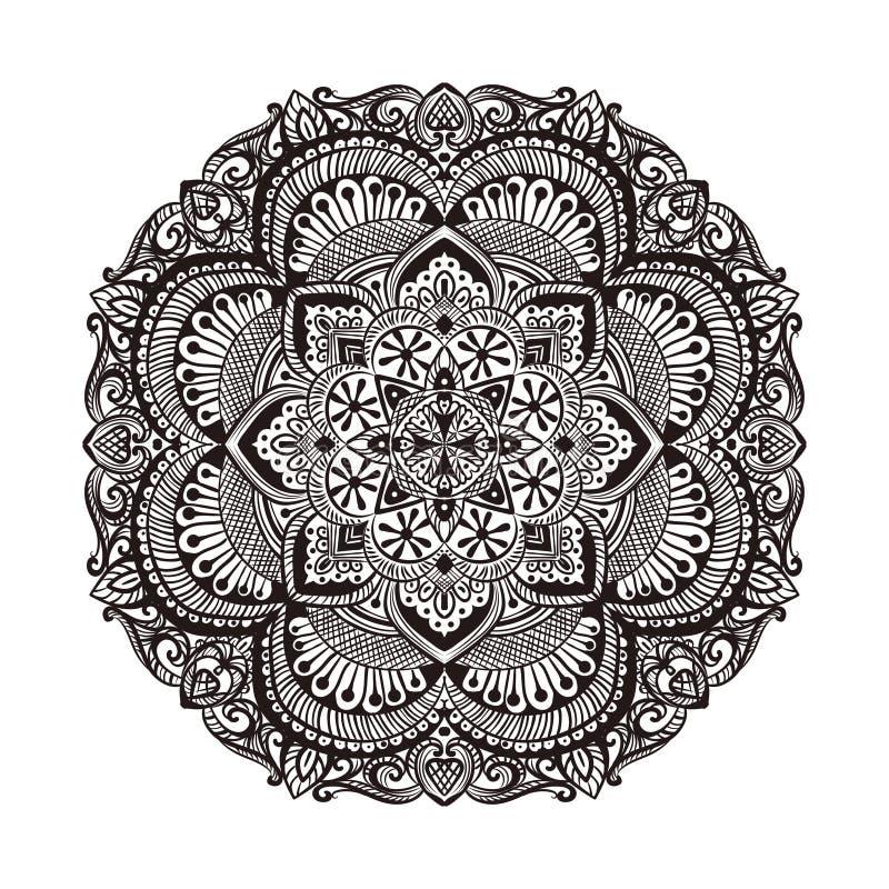 Mandalakolamrangoli royaltyfri illustrationer