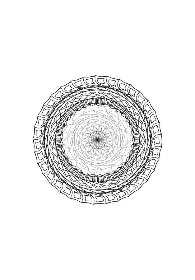 Mandalalijnen royalty-vrije stock afbeelding