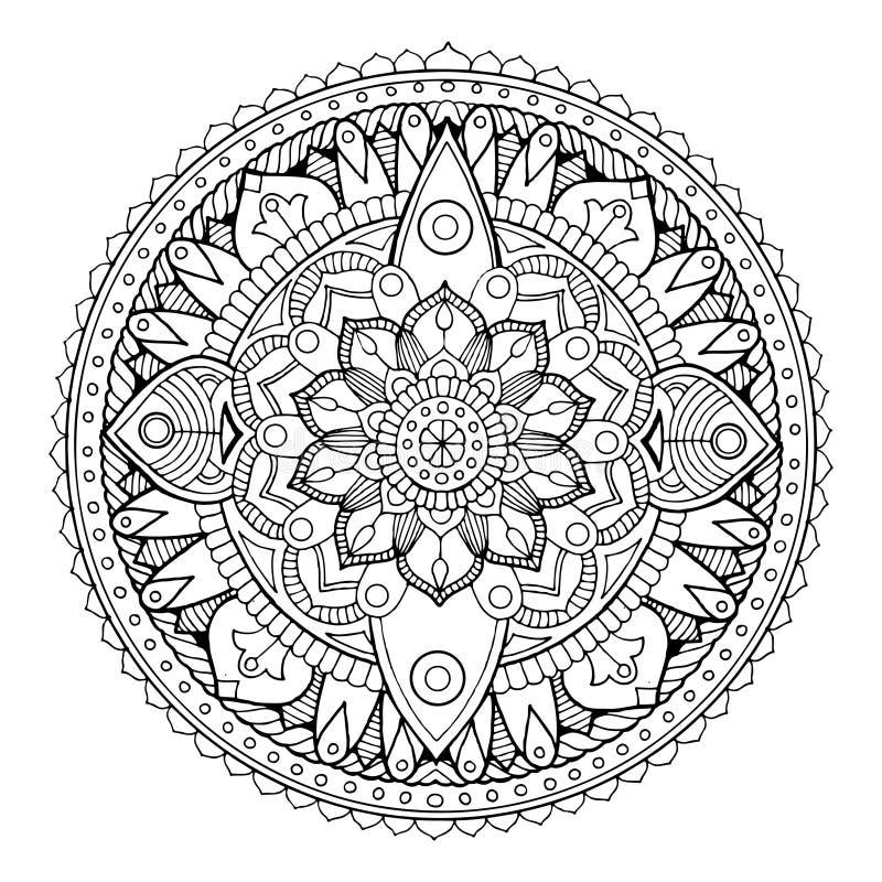 Mandalamalbuch-Vektorillustration vektor abbildung