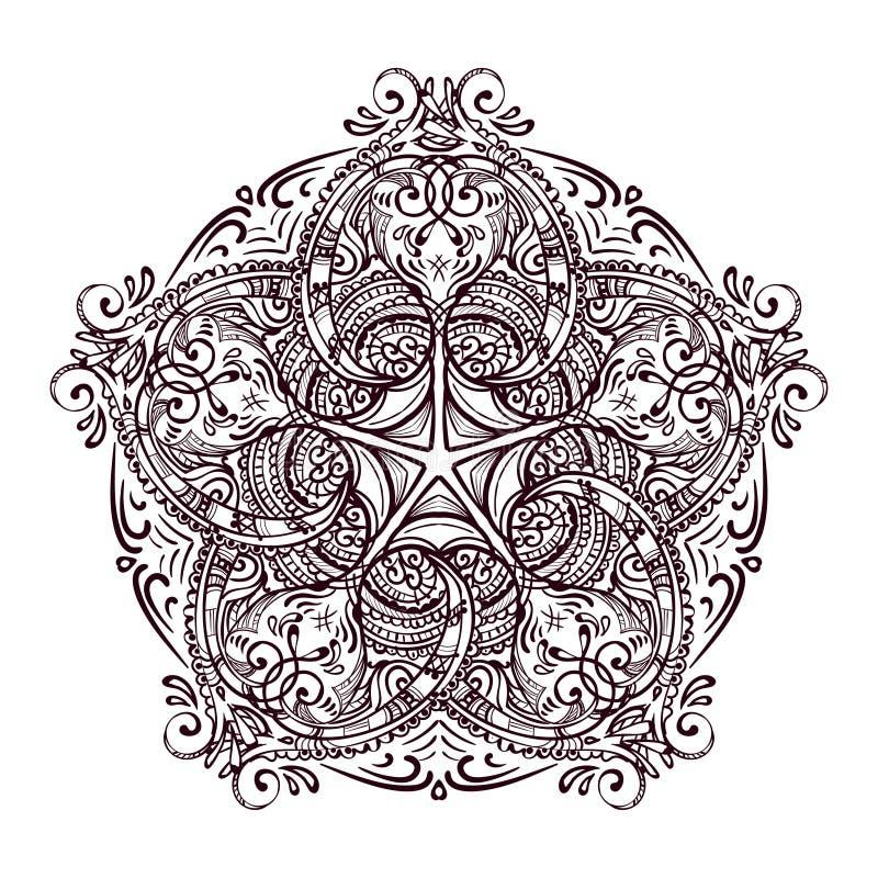 Mandalamehendi 3 stock illustratie