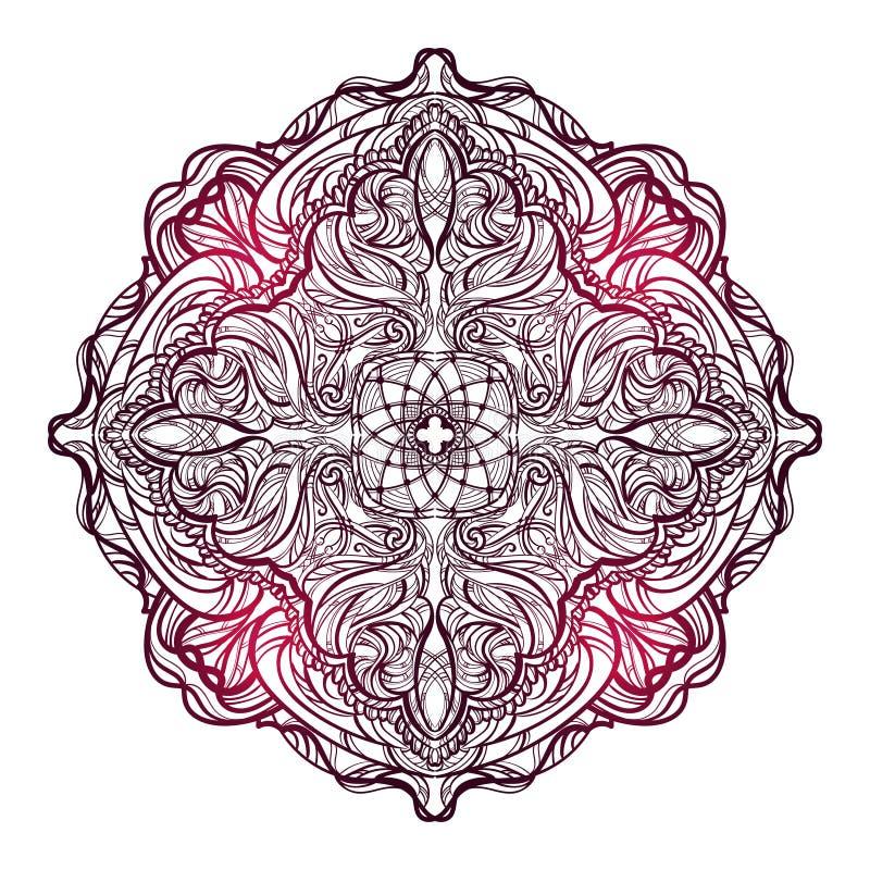 Mandalamehendi 3 vector illustratie