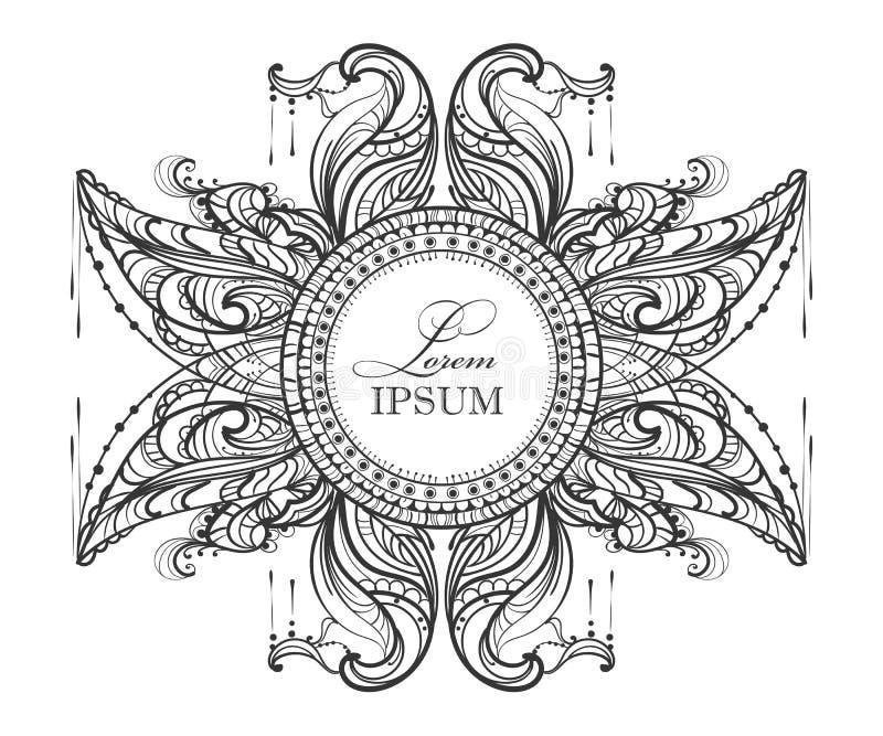 Mandalamehendi 11 vector illustratie