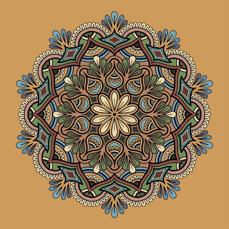 Mandalamodellfärg stock illustrationer