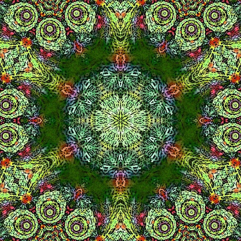 Mandalamuster als Beispiel für Malbuch für Erwachsene Seite für entspannen sich und Meditation Mexikanische Fliese für keramische lizenzfreie abbildung
